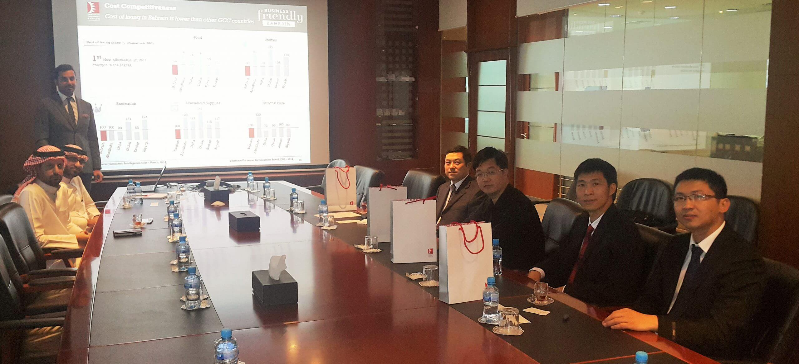 Delegation from the China Arab Council for Investment Promotion Arrives in Bahrain