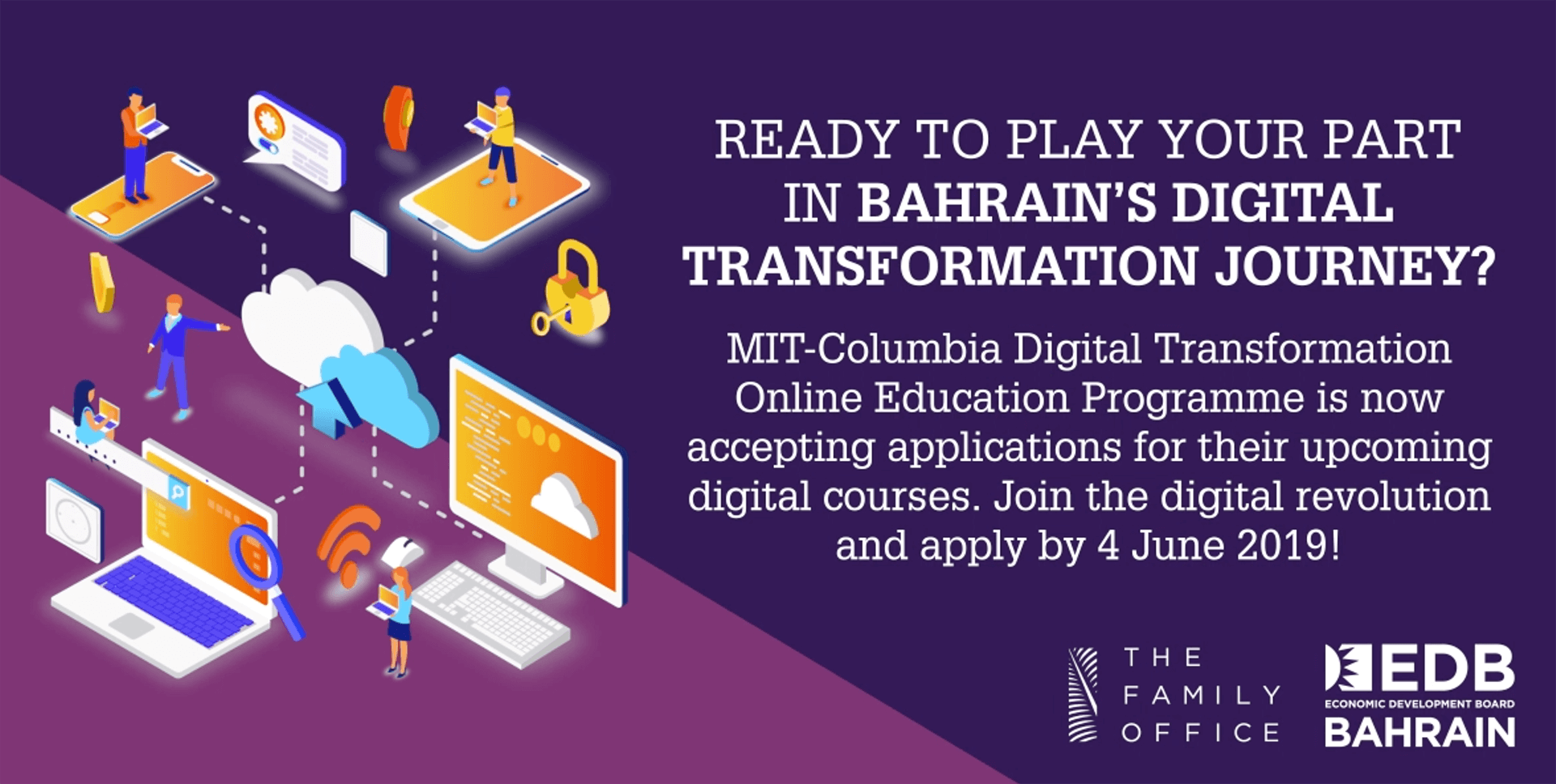 'The Family Office' Launches Programme to Sponsor 100 Bahrainis to Attend Digital Transformation Courses