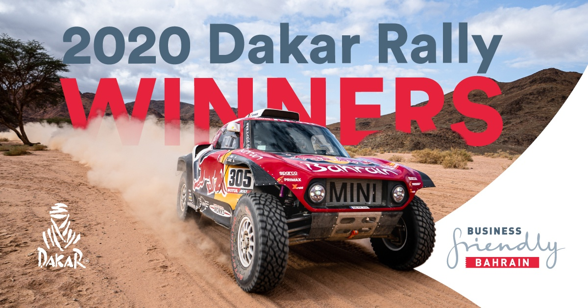 Bahrain JCW X-raid team victorious at the 2020 edition of the Dakar Rally with Carlos Sainz in the driver's seat